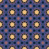 sömlösa mönster med abstrakt mandala dekorativ arabesk illustration. dekorativt klassiskt kakelmönster.