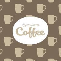 kaffe muggar mönster bakgrund vektor
