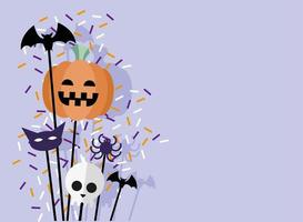 halloween banner firande vektor