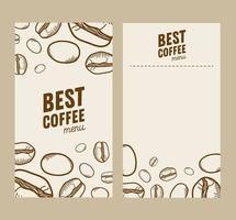 Coffeeshop Menü Set Vorlage vektor