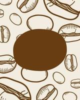Kaffeebohnenmuster Hintergrund vektor