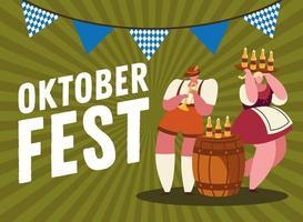 oktoberfest bierfeier banner vektor