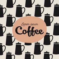 Kaffeekanne Muster Hintergrund vektor