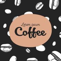 Kaffeemuster Hintergrund vektor
