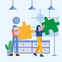 Teamwork-Konzept mit Frauen vektor