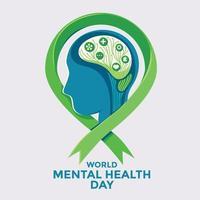 världens mentala hälsodagskoncept