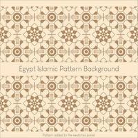 egyptisk islamisk mönsterbakgrund vektor