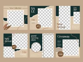 sociala medier mata in postmall för modeföretag vektor