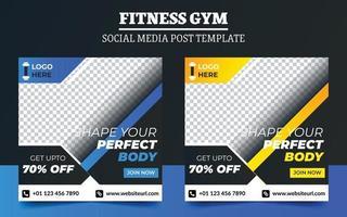 fitness gym marknadsföring sociala medier post mall