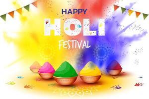 realistische Holi Festival Illustration vektor