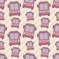 nahtlose Mustervektorillustration des Busses vektor