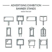 reklam skyltar och banner display ikoner