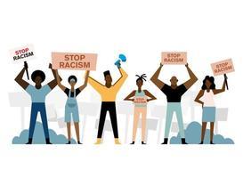 svarta liv betyder demonstration vektor