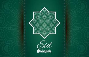 stjärna och mandala ramadan kareem dekoration vektor