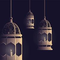 lampor hängande för ramadan kareem dekoration vektor