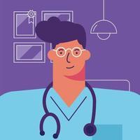 professionell läkare avatar karaktär vektor