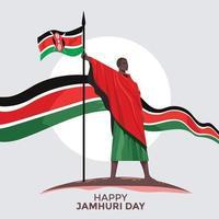 kenyas självständighetsdag eller lycklig jamhuri dag koncept vektorillustration vektor