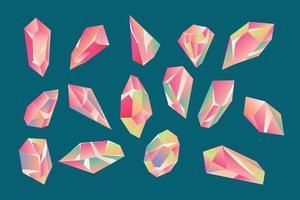 Set Kristall Edelstein Sammlung vektor