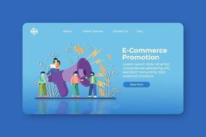 modern platt design vektorillustration. e-handelskampanj målsida och webb banner mall. online shopping, flash försäljning, stor försäljning banner, rabatt, marknadsföring banner design. vektor