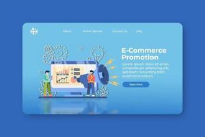 moderne flache Designvektorillustration. E-Commerce-Promotion-Landingpage und Web-Banner-Vorlage. Online-Shopping, Flash-Verkauf, Big Sale Banner, Rabatt, Promotion Banner Design. vektor