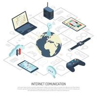 internet av saker vektor