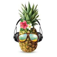 realistisk trendig tillbehör ananas vektor