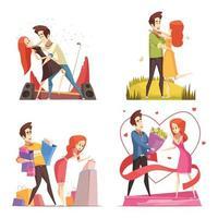 Paar in Liebe Design-Konzept vektor