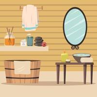 Spa Salon Entspannung Hintergrund vektor