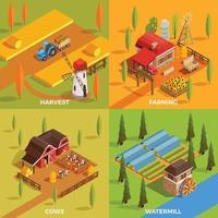 isometrischer Satz der Farm vektor