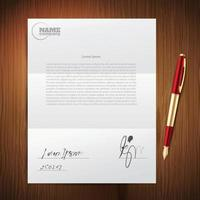 Geschäft Stift Papier Set vektor