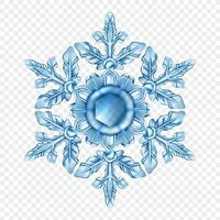 realistische Schneeflocke isoliert vektor