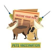 obligatorische Impfung orthogonalen Hintergrund vektor