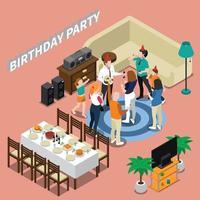 Partei Celebraion Menschen isometrische Zusammensetzung vektor