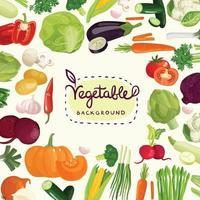 grönsaker tecknad bokstäver vektor