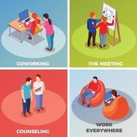 Coworking People isometrisch 2x2