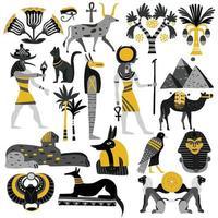 Ägypten Flat Set vektor