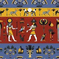 ägyptisches nahtloses Muster vektor