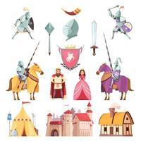mittelalterliches königliches Set vektor