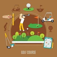 golf platt illustration vektor