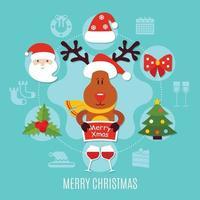 Weihnachten flache Vektor-Illustration