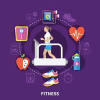 Fitness-Vektor-Illustration vektor