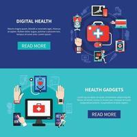 digital hälsa vektorillustration vektor
