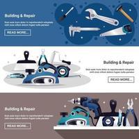 horizontale Banner des Builder-Instruments vektor