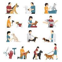 Pflegeservice Tierarzt Hunde eingestellt vektor