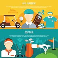 golf banner uppsättning vektor