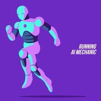 Running Ai mekanisk vektor