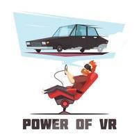 Illustration der virtuellen Realität vektor