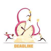 deadline vektorillustration vektor