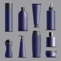realistisches Set für Männerkosmetik vektor
