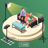 Talente und Auszeichnungen TV zeigt isometrischen Hintergrund vektor